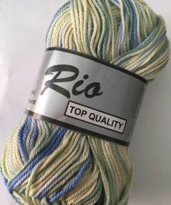 Rio multi farvet 100% bomuld Gul/grøn/blå