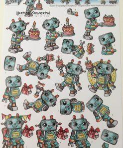 Børn / 3D ark med robot / Yvonne Creations