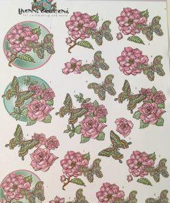 Blomster / 3D ark sommerfugl / Yvonne Creations