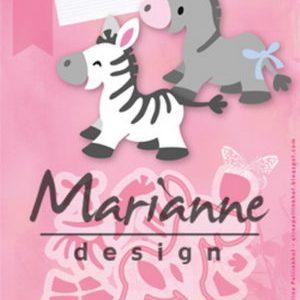 Dies / Zebra og æsel / Marianne Design