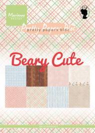 Papirblok / Beary cute / Marianne Design