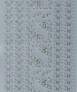 Stickers / Hjertebort og hjørner / Sølv