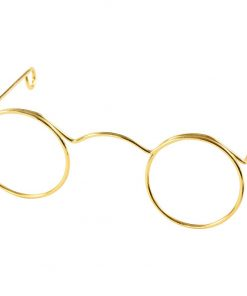 Briller, B: 60 mm, hulstr. 21 mm, guld / 10 stk