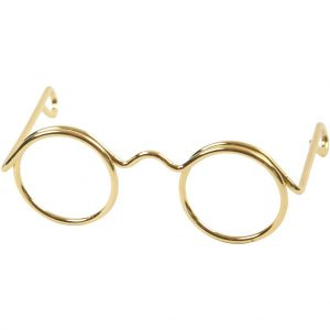 Briller, B: 35 mm, hulstr. 13 mm, guld / 10 stk