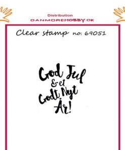 Stempel / God jul & et godt nytår / Felicita design