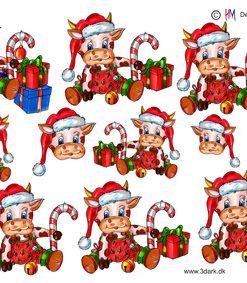 Jul / 3D ark juleko med julegaver / HM Design