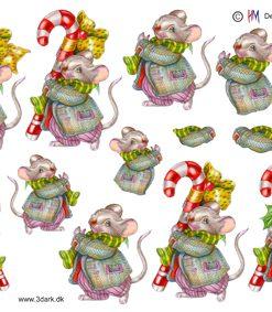 Jul / 3D ark julemus og slikstok / HM Design