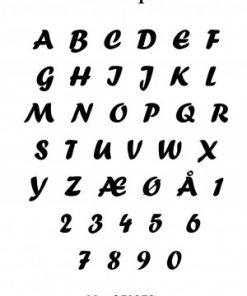 Stempel / Alfabet / Hobbygros