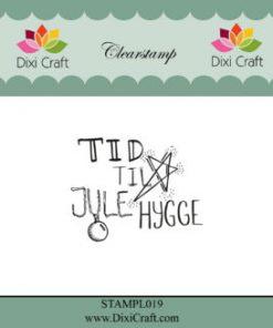 Stempel / Jule-tekst / Dixi craft