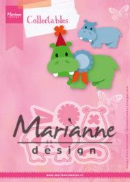 Dies / flodheste / Marianne Design