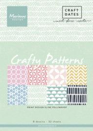 Papirblok / Crafty patterns / Marianne design