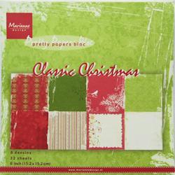 Kartonblok / Classic christmas / 15 x 15 cm