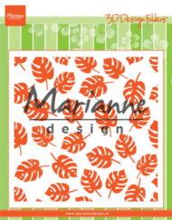 Embossingfolder / tropiske blade / Marianne Design