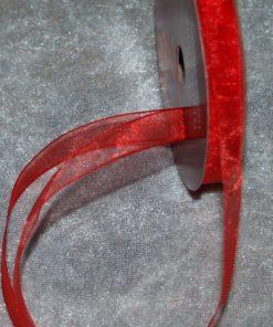 Organzabånd 6 mm x 10 meter / Rød