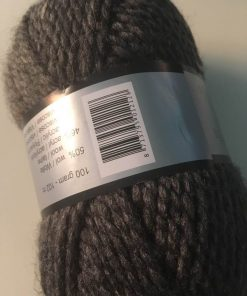 Garn / Alpina i mørkegrå tweed