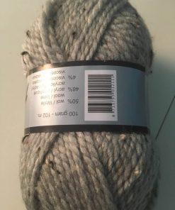 Garn / Alpina i lys grå tweed