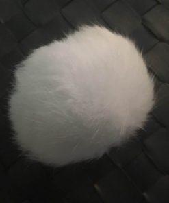 Pompom kaninhår i hvid