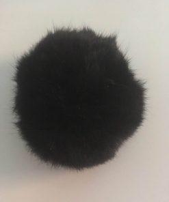Pompom kaninhår i sort