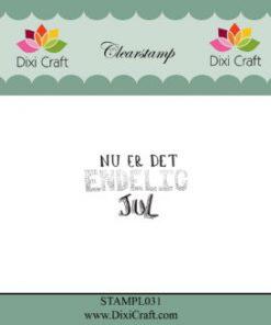 Stempel / Med jule-tekst / Clear stamp