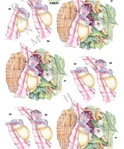 Blandet / 3D ark med frokostkurv / Dan-Design