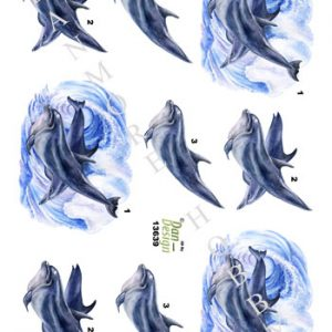 Dyr / 3D ark med delfiner / Dan-Design