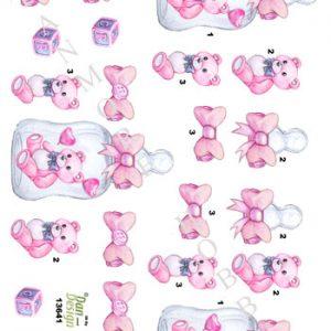 Børn / Baby, pige, bamse / Dan-Design
