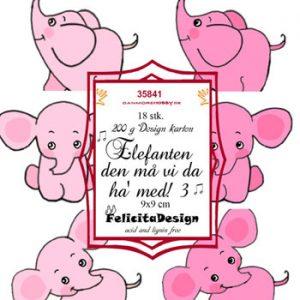 Toppers / Elefanten den 3. - Pink / 9 x 9 cm