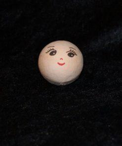 Vatkugle med ansigt 20 mm, pige