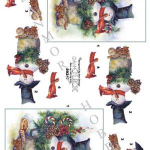 Jul / 3D ark med snemand / Dan-Quick