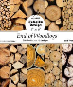 "Karton 6"" x 6"" / End of woodlogs / Felicita design"