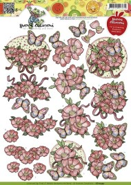 Blomster / Blomst & Sommerfugl / Yvonne Creations