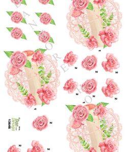 Blomster / Sang på fad med roser / Dan-Design