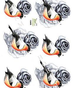 Blomster / Fugl og blomst / dan-Design