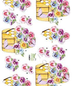 Blomster / Stedmoderblomster i kurv / Dan-Design