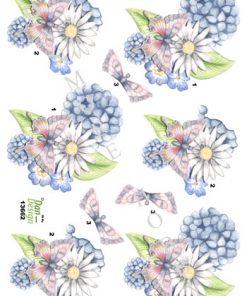 Blomster / Blomst med sommerfugl / Dan-Design