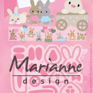 Dies / Baby kaniner / Marianne Design