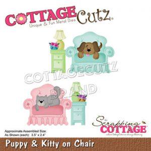 Dies / Hund og kat i sofa / Cottage cutz