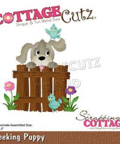 Dies / Hund ved låge / Cottage cutz