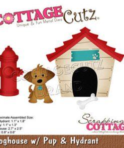 Dies / Hundehus med hvalp / Cottage cutz