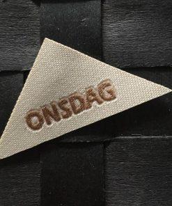 Labels / Onsdag / 2,5 x 5,5 cm