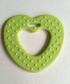 Hjerte bidering med knopper / I farven lime grøn