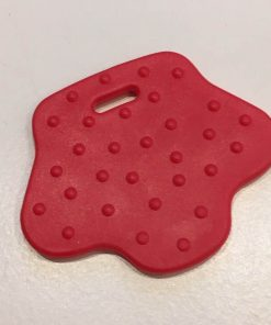 Bidering, fodformede med knopper i rød
