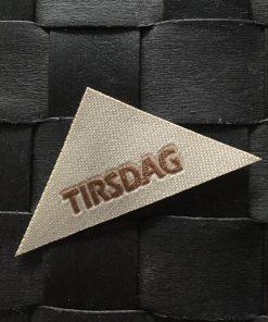 Labels / Tirsdag / 2,5 x 5,5 cm
