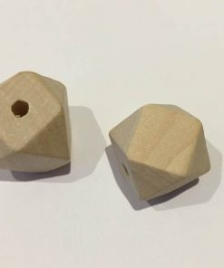 Træperler / Fazet / 20 mm / 2 stk
