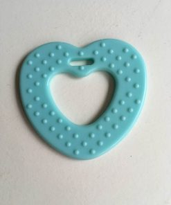 Hjerte bidering med knopper / i farven lys blå