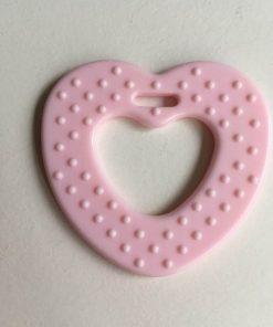 Hjerte bidering med knopper / I farven rosa