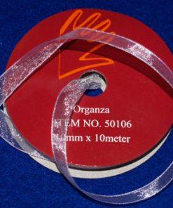 Organza-bånd / 10 mm x 10 m / Lys lilla