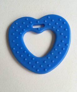 Hjerte bidering med knopper / I farven blå