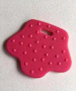 Bidering / fodformede med knopper i pink / 1 stk
