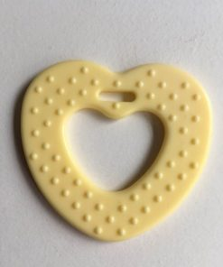 Hjerte bidering med knopper i lys gul / 1 stk